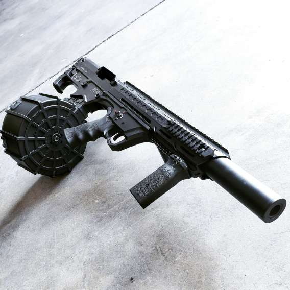 Pro Series Bullpup (Semiautomatic) in Black + 20 round drum